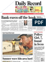 Front page - York Daily Record/Sunday News, July 24, 2010