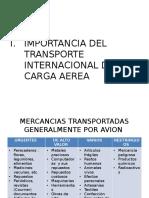 Importancia Del Transporte Internacional de Carga Aerea