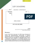 LEY 1014 DE 2006