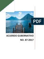 acuerdo gubernativo 87-2017