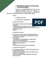 Analisis de Expediente Tecnico Para Mañana.