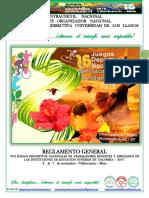 Reglamento General Xvi Juegos Deportivos - Villavicencio Borrador
