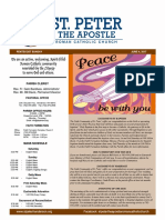 St. Peter the Apostle weekly Bulletin 6-1-17