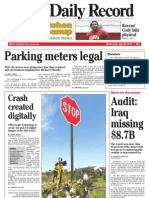 Front page - York Daily Record/Sunday News, July 28, 2010