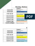 2017 Elementary Schedule FINAL