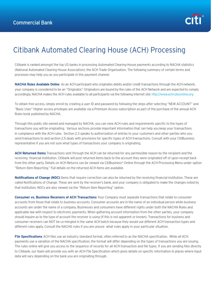 Ach Process | Automated Clearing House | Financial Transaction