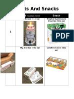 Crafts and Snacks Handout-Grades K-3