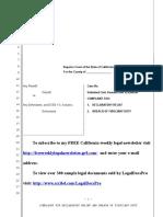 Sample Complaint for Declaratory Relief Against Condo Association in California
