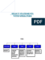1.2 SELECT Statements With Operators