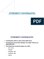 2.3 Integrity Constraints