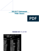 1.4 SELECT Statement With Clauses