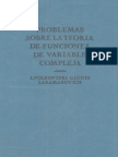 Problemas Sobre La Teoria de Funciones de Variable Compleja