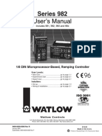 Watlow981 982 Manual