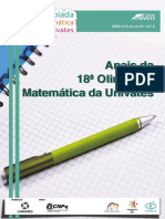 Annals of the 18th Univates Mathematical Olympiad