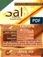 Lição 8 Salmo 42 Salmo de Desabafo Esperança Na Tristeza