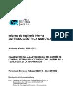 Auditoria a Electricidad Quito