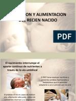 Nutricion y Alimentacion Del Recien Nacido