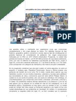 El problema del transporte público en Lima principales causas y soluciones