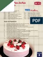 Pastel Tres Leches Con Fresas