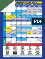 HarbourCats 2017 Schedule