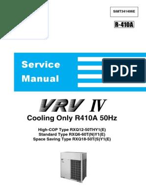 VRV IV SiMT341406E pdf | Electrical Connector | Cable