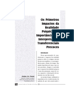 Heitor de Paola - Os Primeiros Impactos Da Realidade Psíquica e a Importância Das Interpretações Transferenciais Precoces