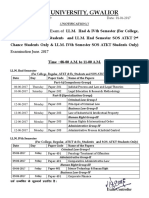 Time Table of LLM II & IV Sem (for College, Regular, ATKT & Ex_Students & LLM II Sem SOS ATKT 2nd Chance Students Only & LLM IV Sem SOS ATKT Students Only) Examination June 2017