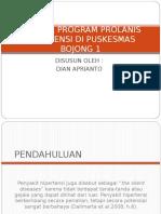 Analisa Program Prolanis Hipertensi Di Puskesmas Bojong 1