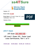 New Pass4itsure Lpi 101-400 VCE PDF - LPI Level 1 Exam 101, Junior Level Linux Certification, Part 1 of 2
