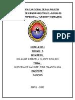 Historia de La Hoteleria en Arequipa