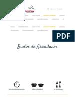 Budín de Arándanos ⋆ Comercializadora Victoria