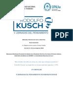 2º Circular v Jornadas El Pensamiento de Rodolfo Kusch