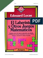 El Laberinto y Otros Juegos Matematicos