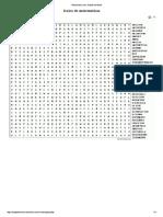 Sopa de Letras Lexico de Matematicas
