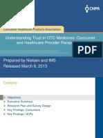 Understanding Trust in OTC Medicines Research Findings