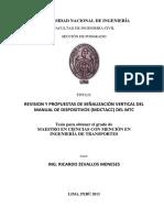 REVISION Y PROPUESTAS DE SEÑALIZACIÓN VERTICAL DEL MANUAL DE DISPOSITIVOS (MDCTACC) DEL MTC