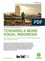 Towards More Equal Indonesia