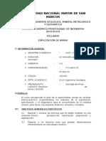Syllabus Explotacion de Minas 2015-1