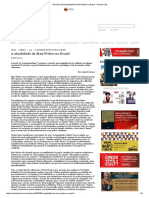 Revista Cult a Atualidade de Max Weber No Brasil - Revista Cult