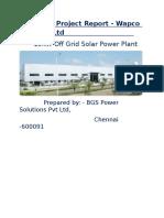 solar project report