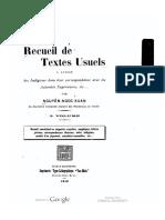 (1914) Recueil de Textes Usuels - Nguyễn Ngọc Xuân