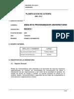 Planificacion Catedra Redes I 2013