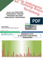 Mapping FKTP Kabupaten Tangerang 17 Mei 2017