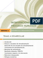 Intervenciones en Procesos Humanos
