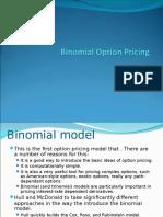 Binomial Pricing