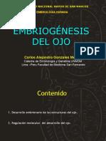 Embriologia Del OJO Carlos Gonzales Medina UNMSM