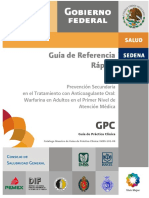 Anticoagulación Oral Rápida