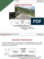 Secciones transversales en carreteras