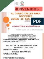 CURSO PLANEACIÓN ARGUMENTADA