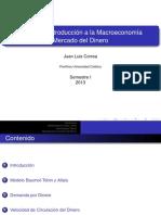 EAE120A Introducción a la Macroeconomía Mercado del Dinero